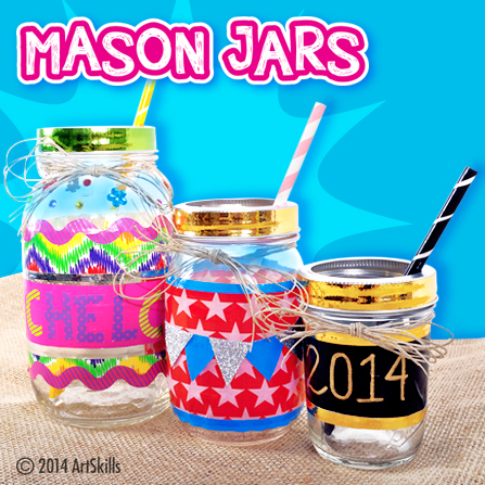 Duct Tape Mason Jars