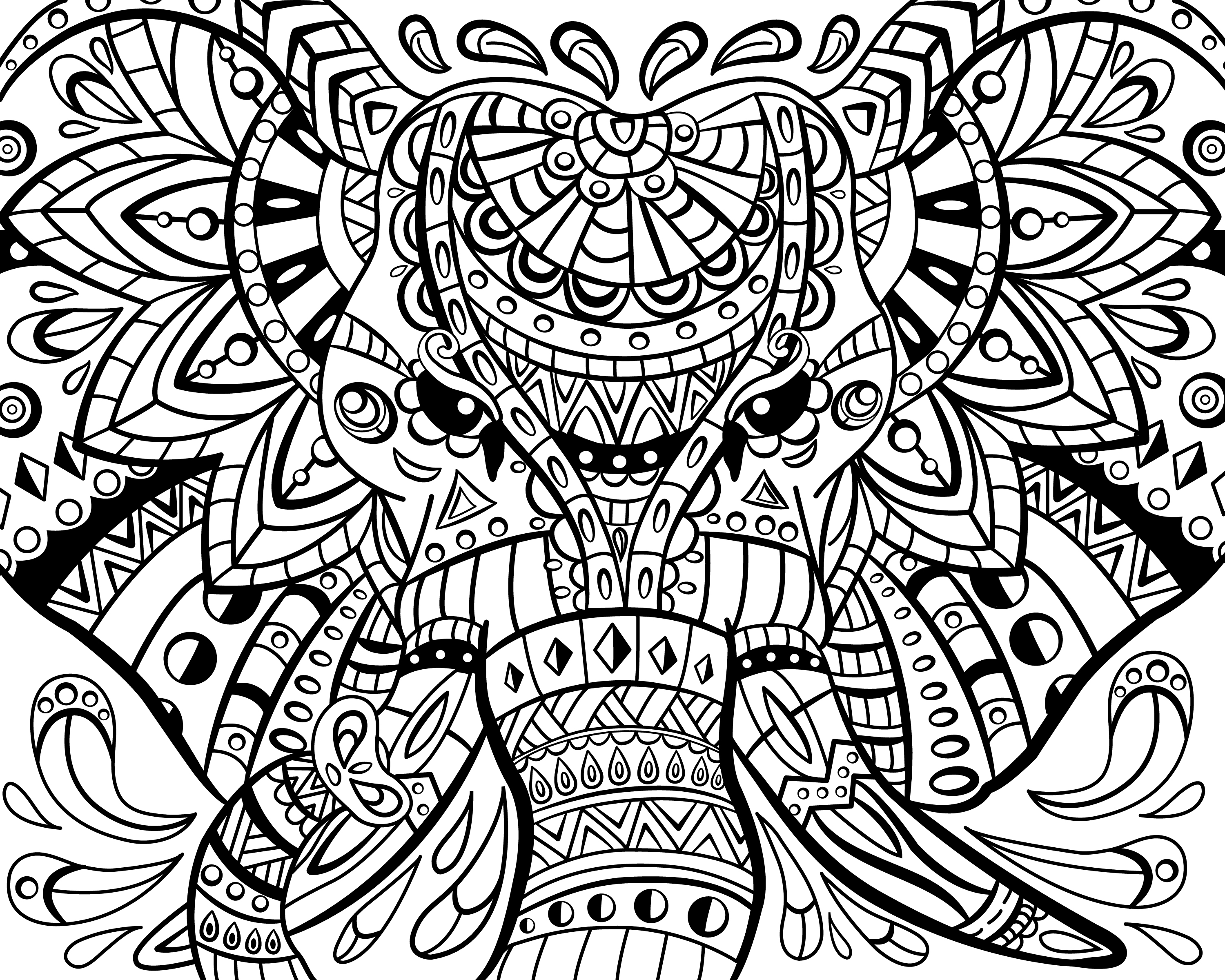 elegant printable adult coloring pages - photo#18