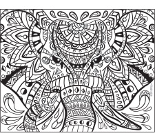 Adult Coloring: The Elegant Elephant