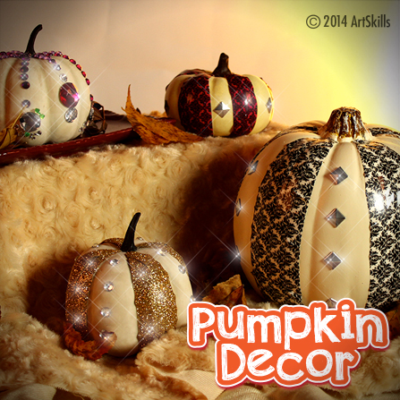 Duct Tape Foam Pumpkins