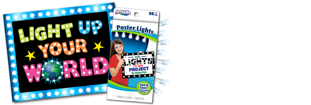 Lights for poster board instruction