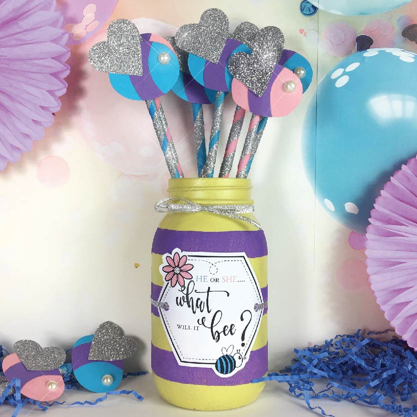 Baby Bee Reveal Craft