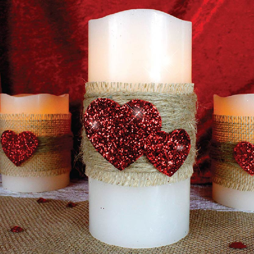 Twine Heart Candles