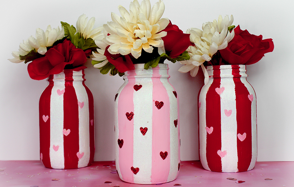 Valentines Day Mason Jars Craft Ideas Holiday Decor