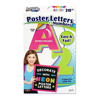 Poster Letters Peel Amp Stick Neon Lettering