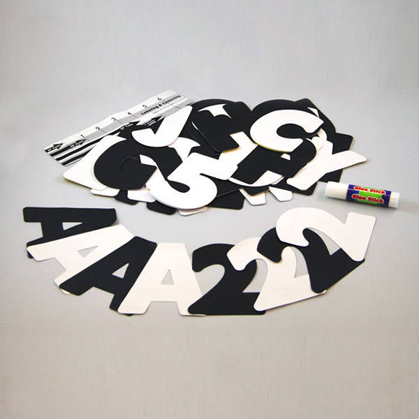 Jumbo Black And White Poster Letters Make A Poster