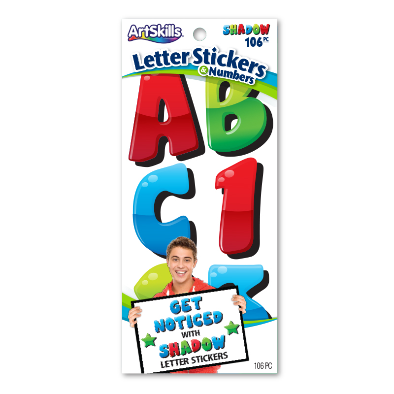 jumbo shadow illusion stickers poster letters make a