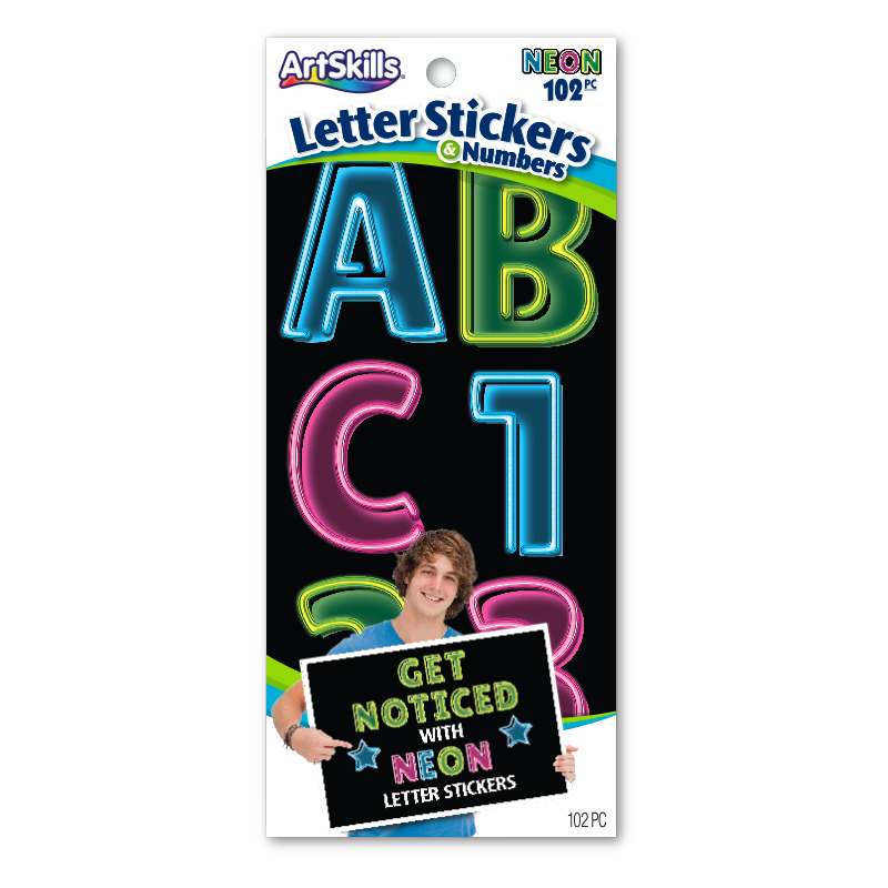 Jumbo Neon Illusion Stickers Poster Letters Make A Poster
