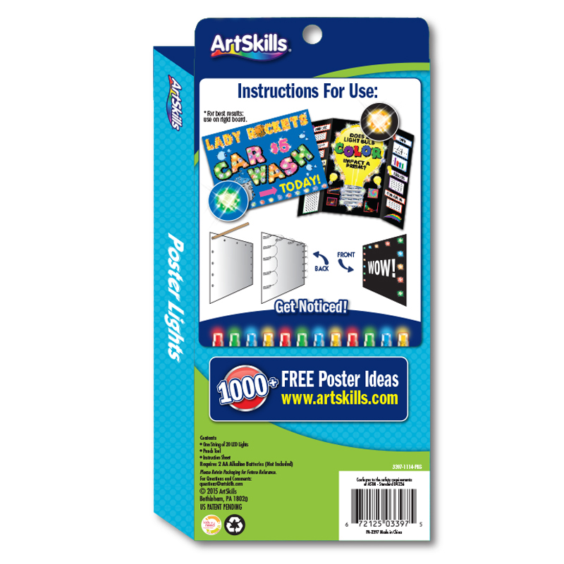 Multi Colored Poster Lights Light Up Your Poster Make A