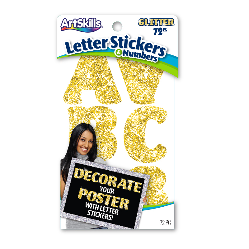 Gold Glitter Letter Stickers Poster Letters Make A Poster