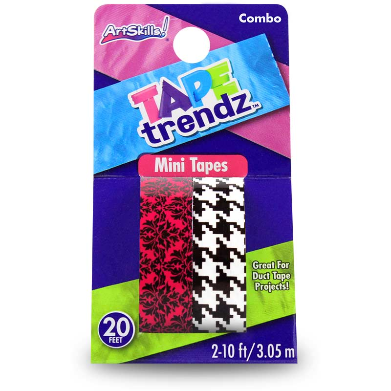 Hounds tooth victorian 2 pk mini duct tape trendz mini for Mini duct tape crafts