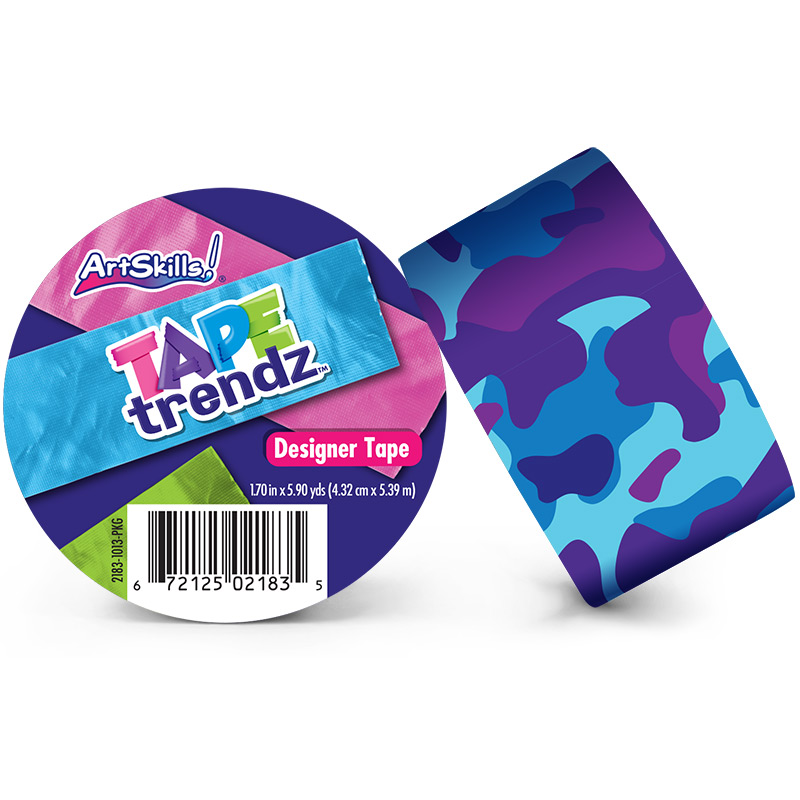 Designer Trendz Duct Tapes from ArtSkills: Blue Camo Print Duct Tape