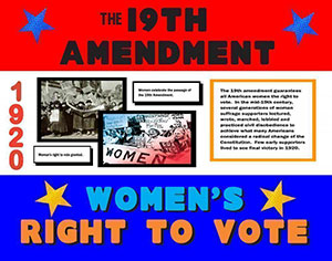 Create A Poster About The Right To Vote Amendment Women