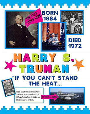 Make A Poster About Harry Truman Presidents Poster Ideas