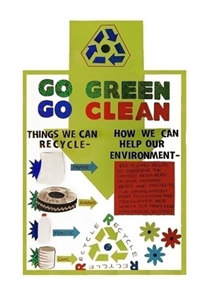 how to make a recycling poster