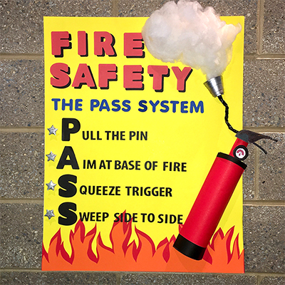 Make A Poster About The Pass System Fire Safety Poster Ideas