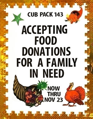 Make A Charity Poster For A Food Drive Thanksgiving