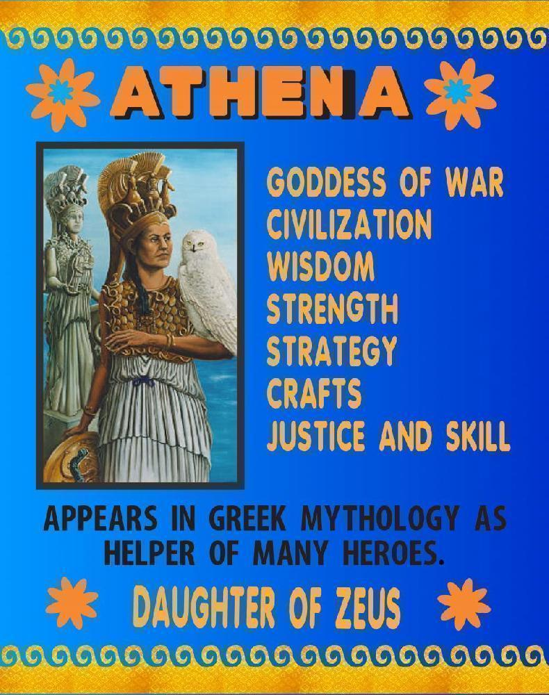 Make A Poster About Athena Social Study Poster Ideas