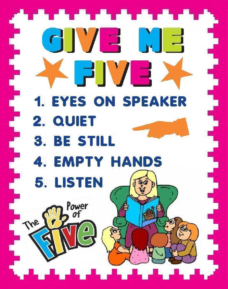 Classroom Poster Ideas ~ Create a good listening poster classroom rule