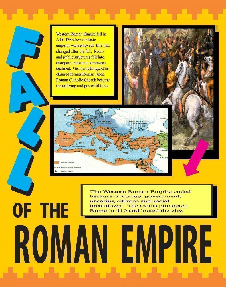 Make A Poster About The Fall Of The Roman Empire Roman