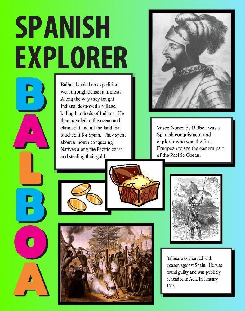 make a balboa poster | history project poster ideas