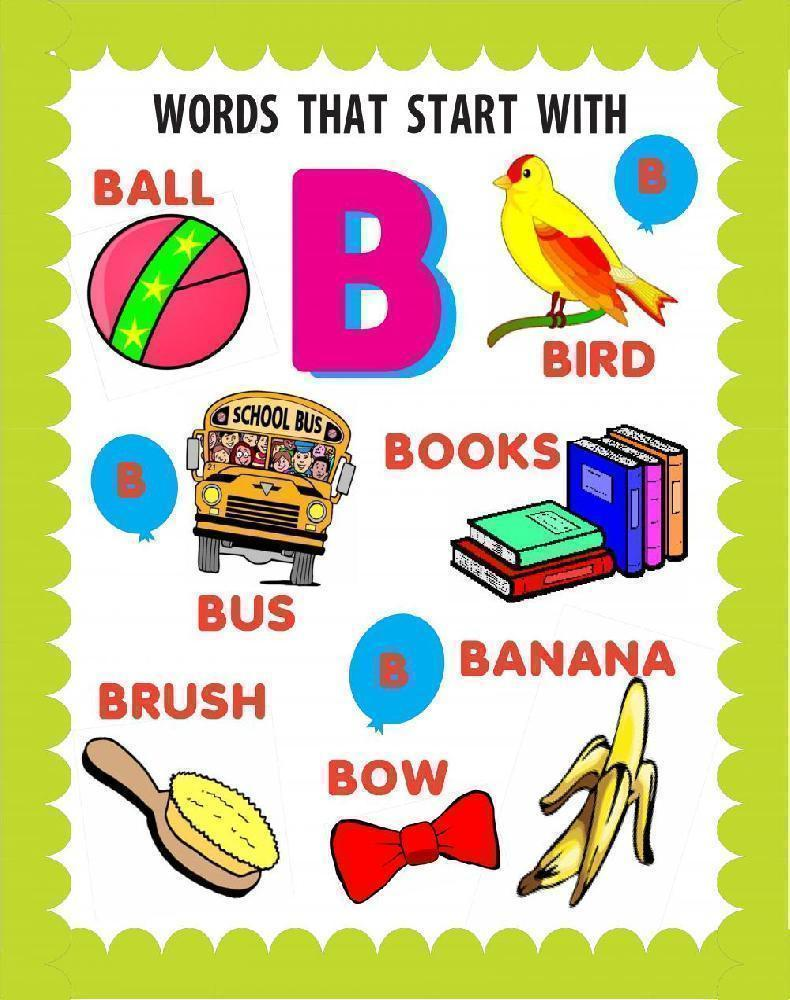 words that begin with the letter b create a words that start with b poster spelling bee 25717