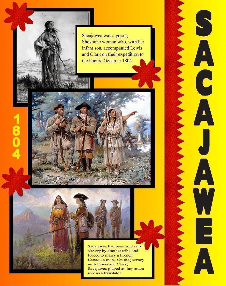 create a poster about sacajawea