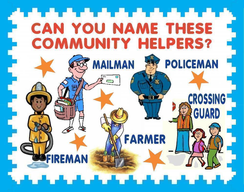 Create A Community Helpers Poster School Project