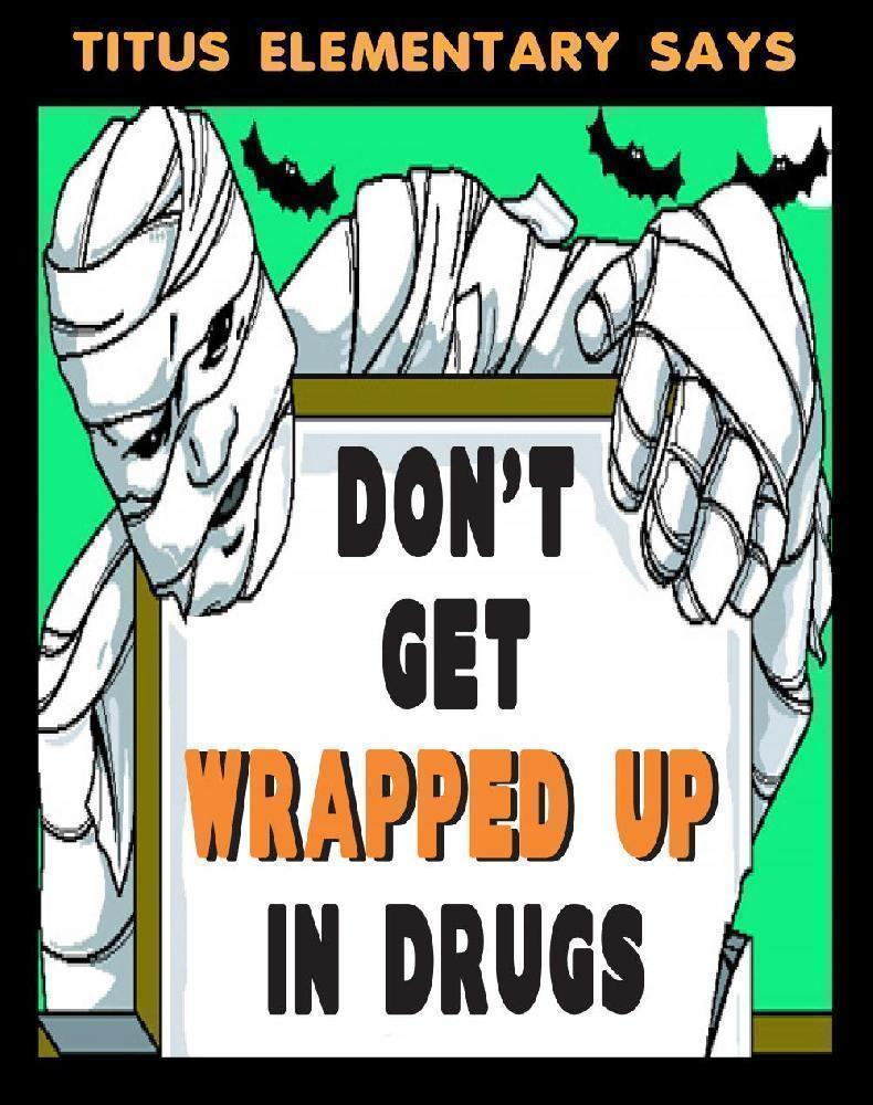 Make A Poster About Avoiding Drugs Elementary School Halloween