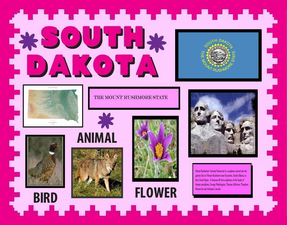 Make a Poster About South Dakota | School Project Poster Ideas
