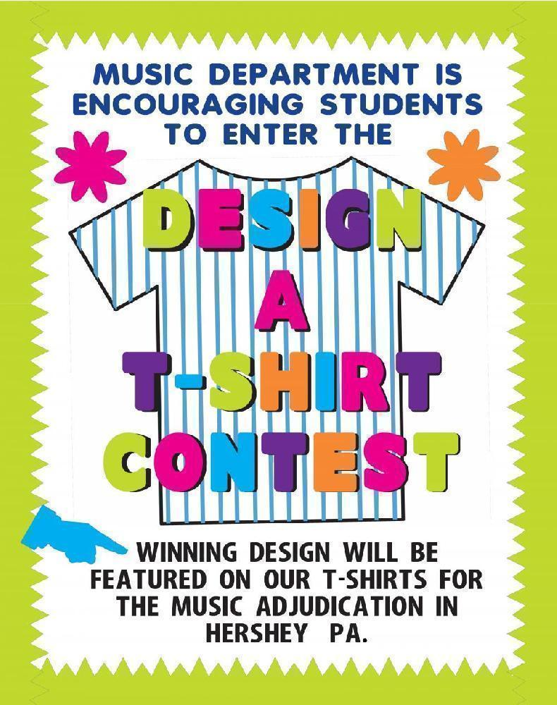 Make A T Shirt Contest Poster School Event Poster Ideas