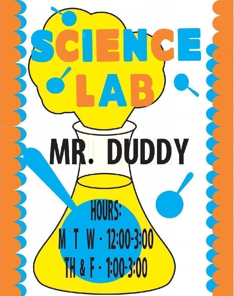 science lab posters