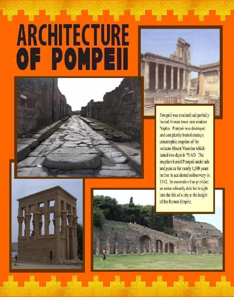 make a poster about the architecture of pompeii