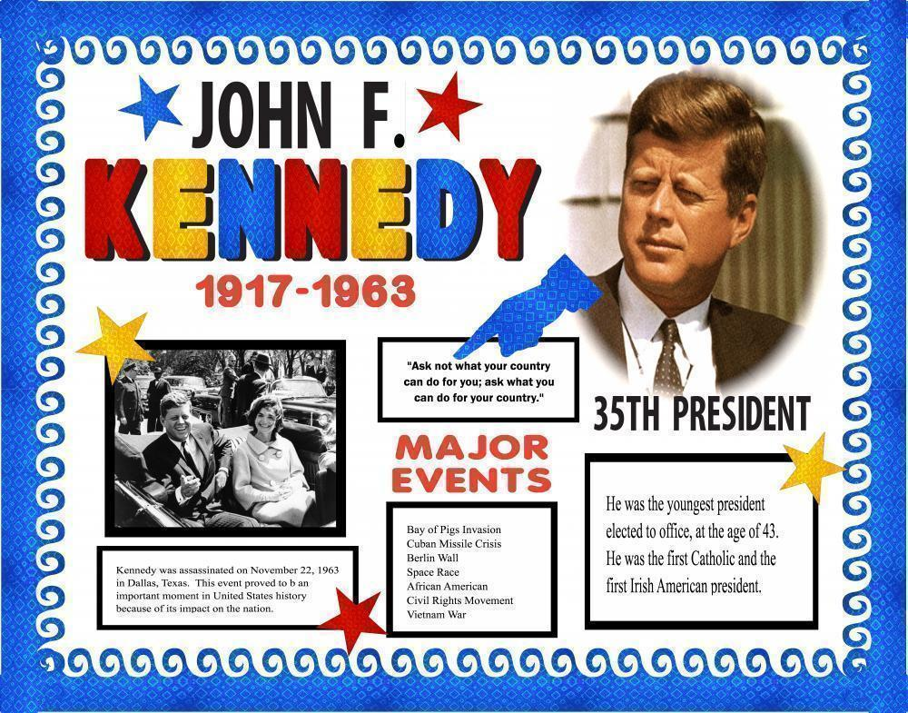Make A Poster About John F Kennedy Presidents Poster Ideas