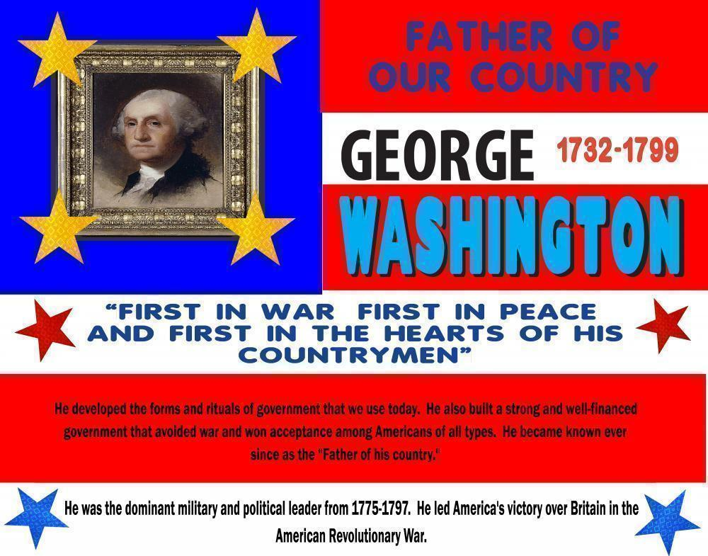make a poster about george washington