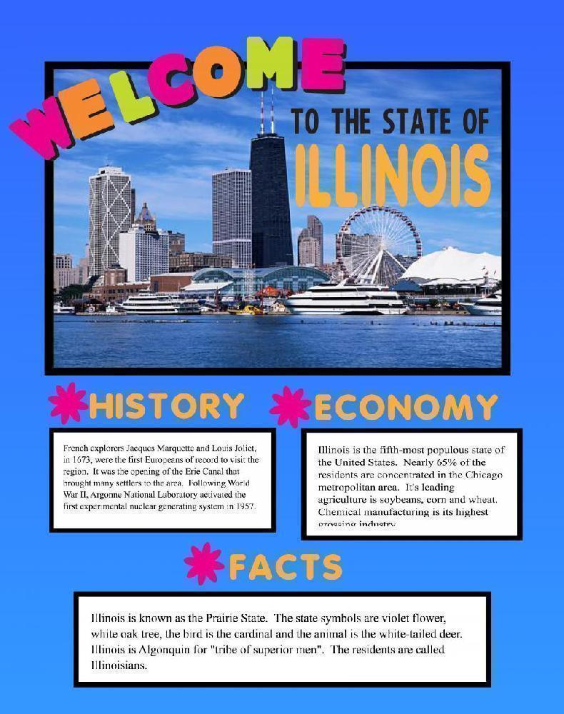make a poster about state of illinois school project