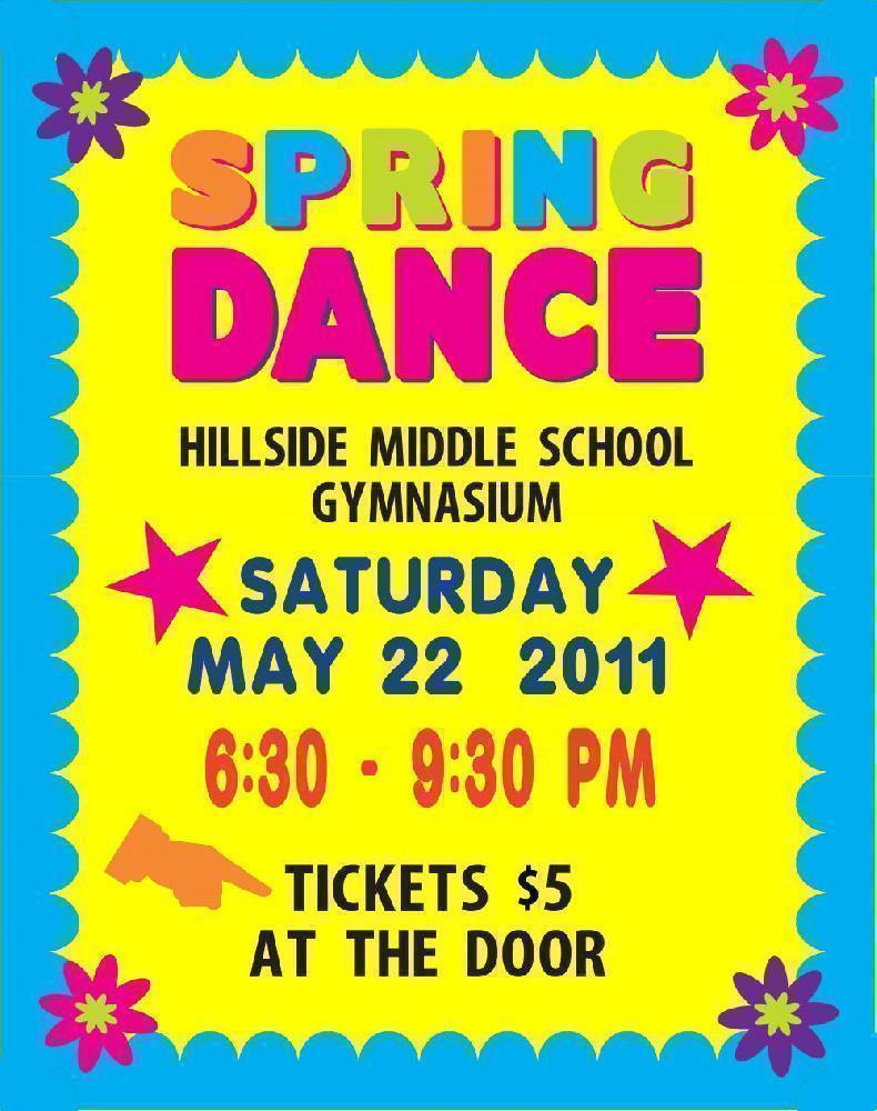 Make a middle school spring dance poster school event for Spring dance decorations