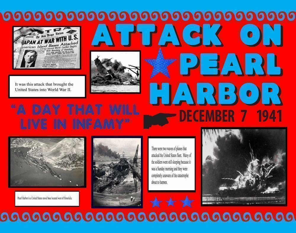 make a attack on pearl harbor poster history project poster ideas