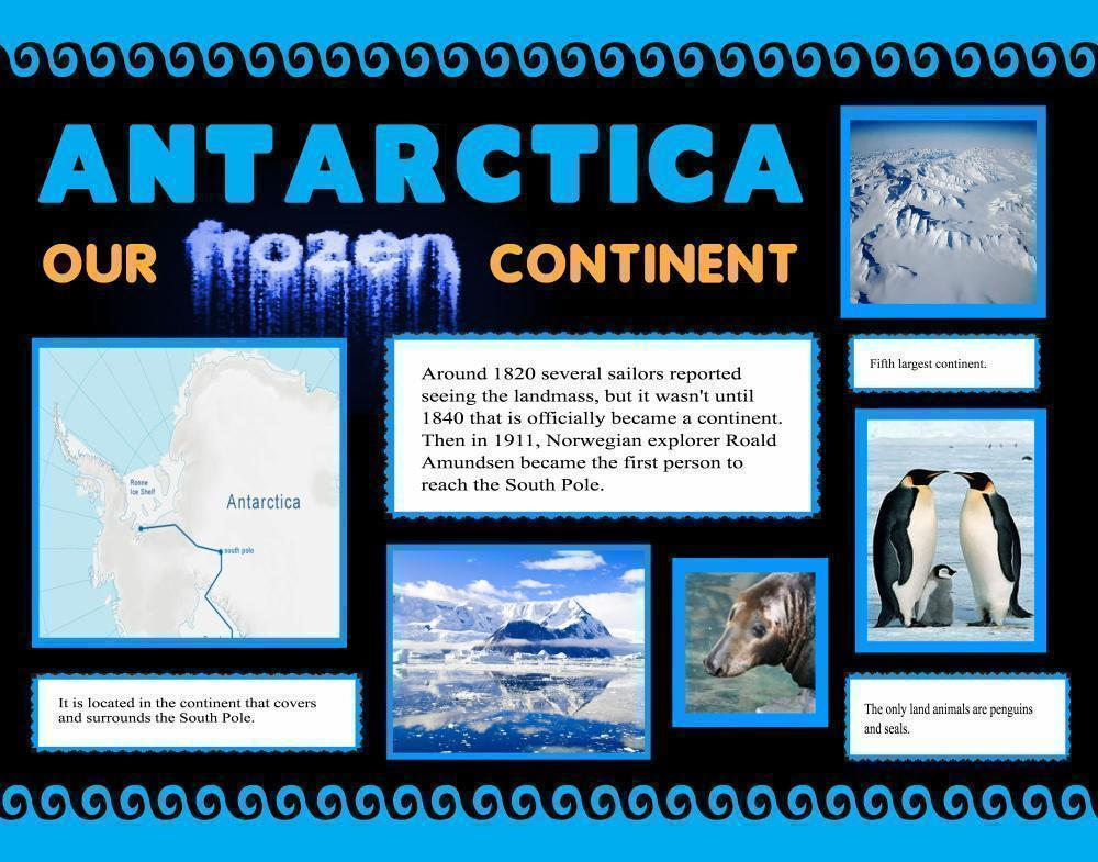 Make An Antarctica Poster Science Project Poster Ideas