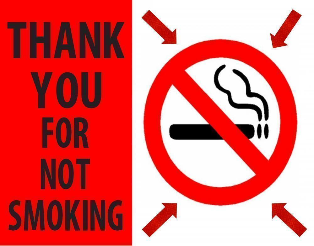 Make A No Smoking Poster Thank You For Not Smoking Poster Ideas