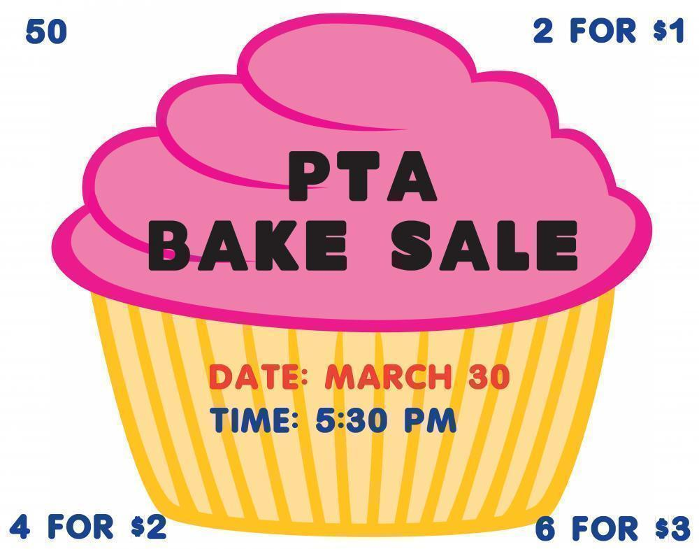 bake sale posters