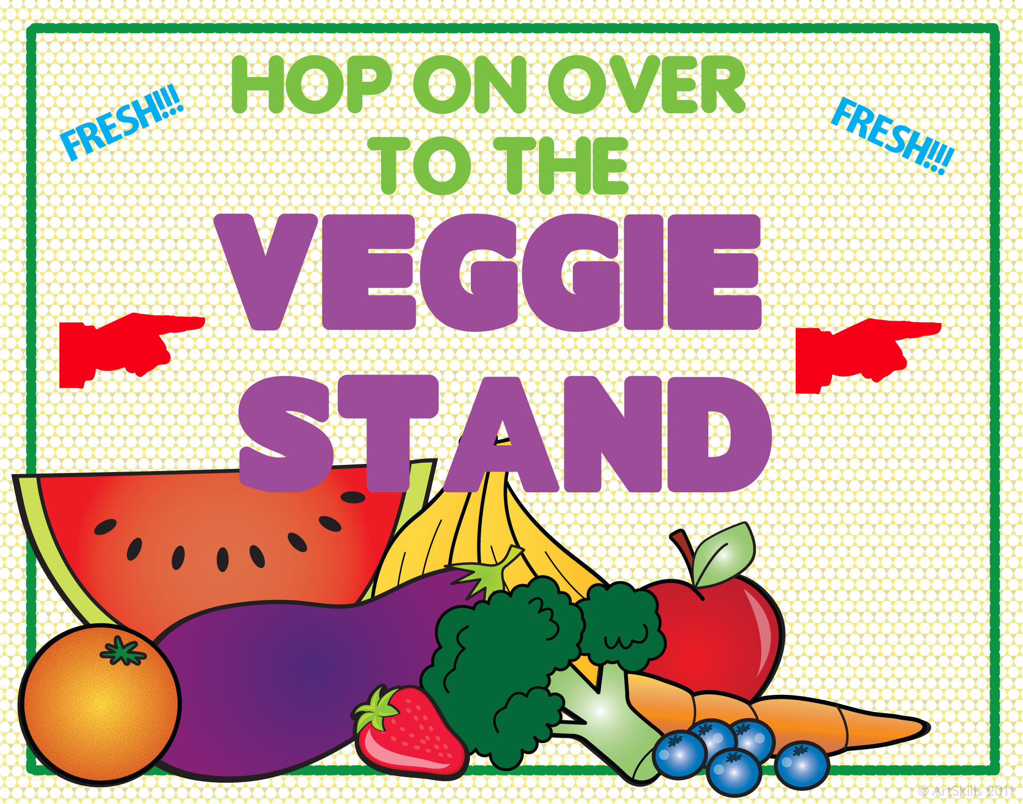 make a produce stand poster