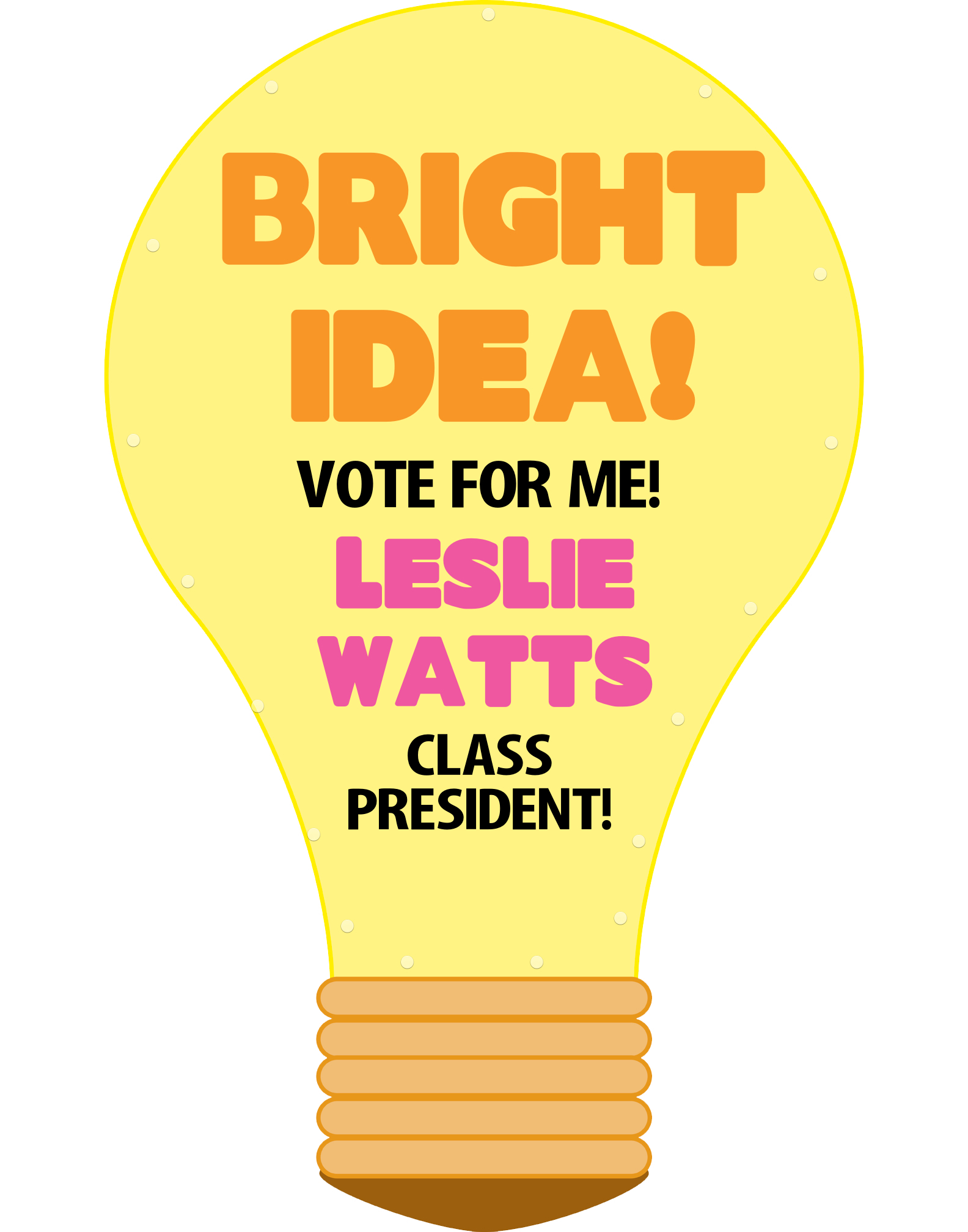 Make an election poster class president sign school council poster