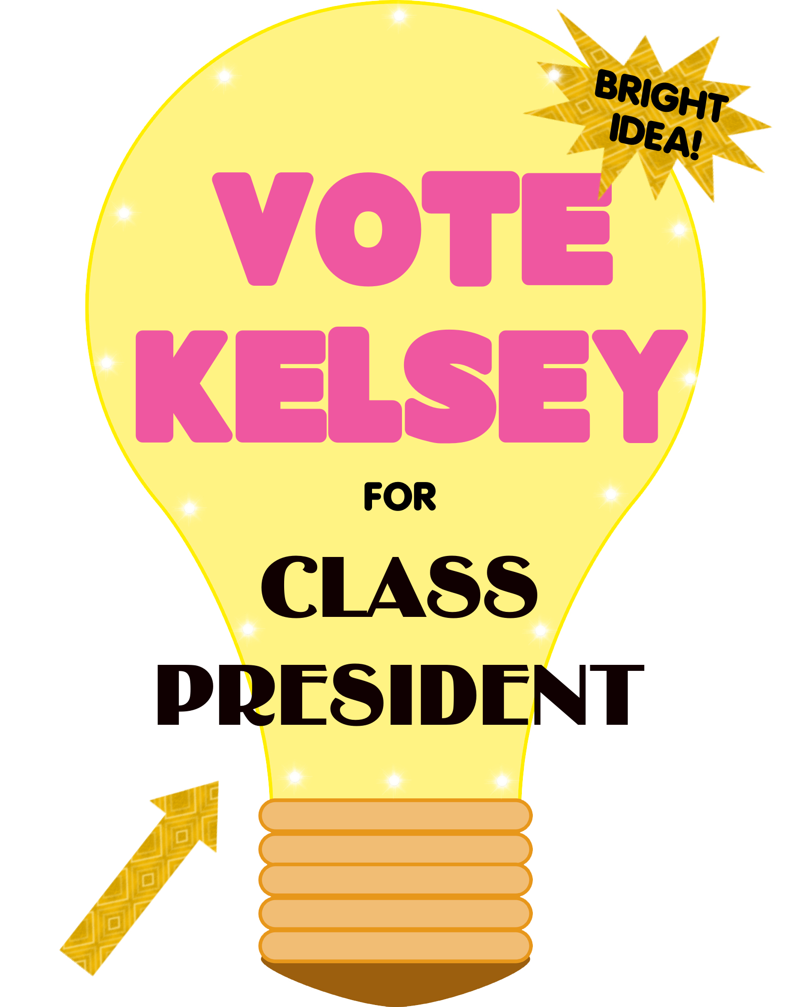 Make a School Election Poster | Vote for Class President