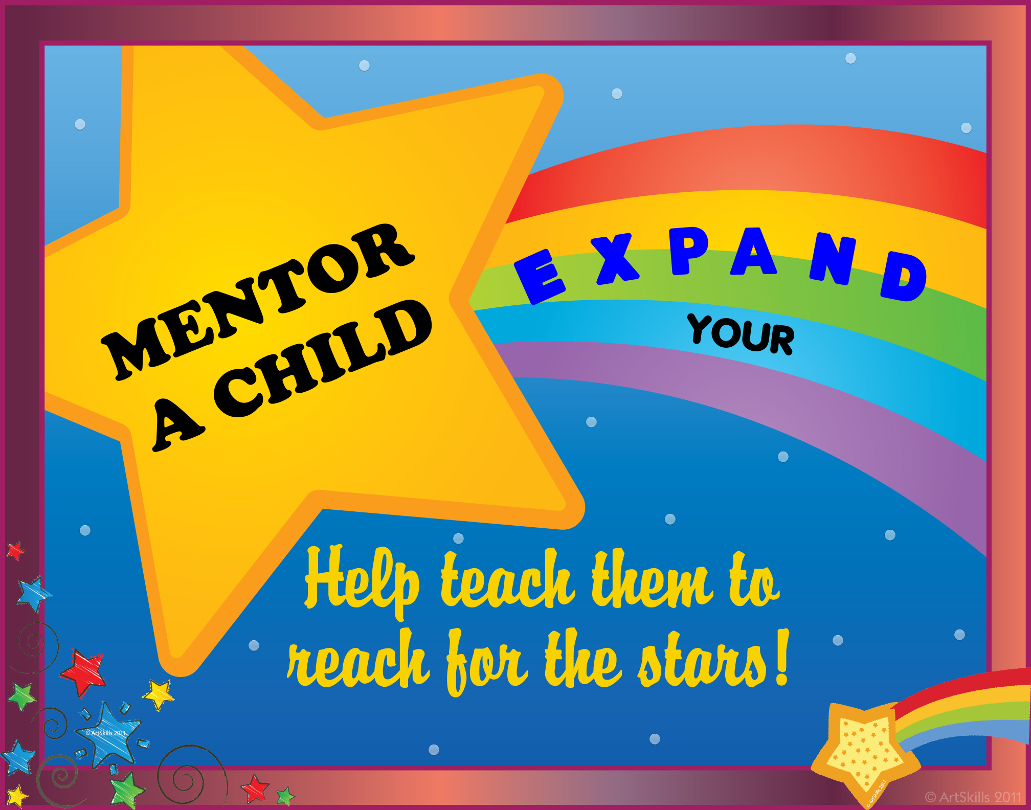 create a poster about expand your universe mentor