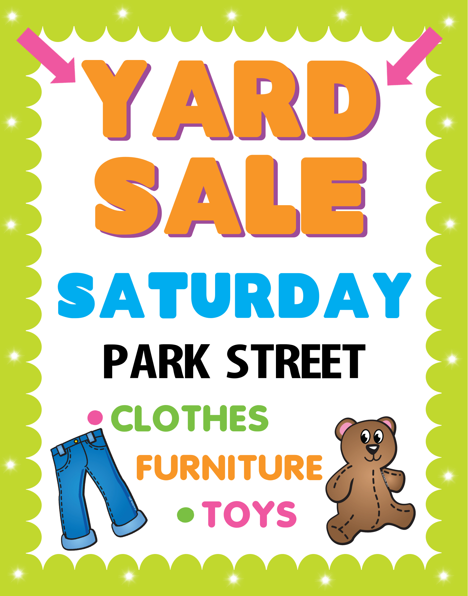 create a poster about yard sale