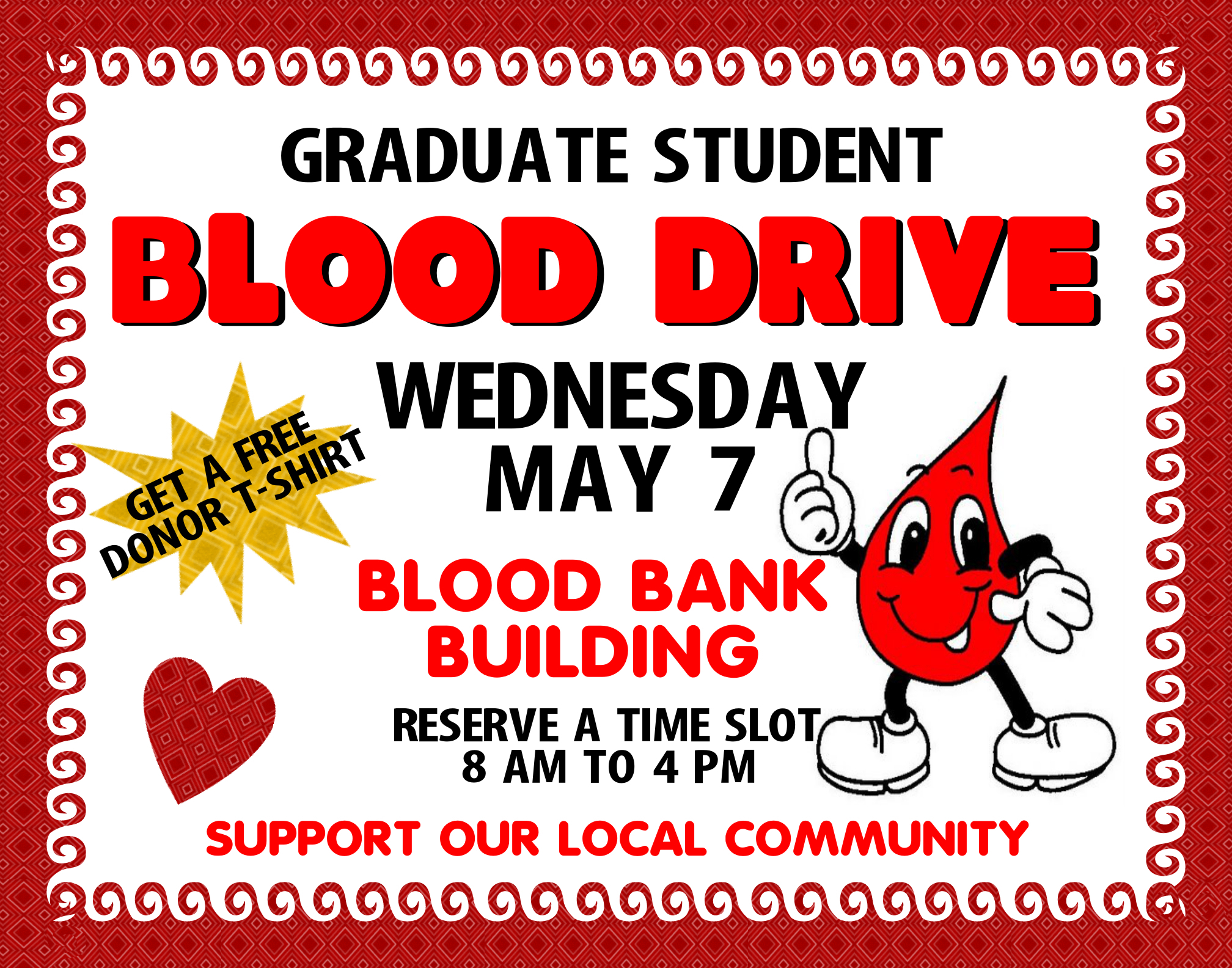 Make A Graduate Student Blood Drive Poster Community