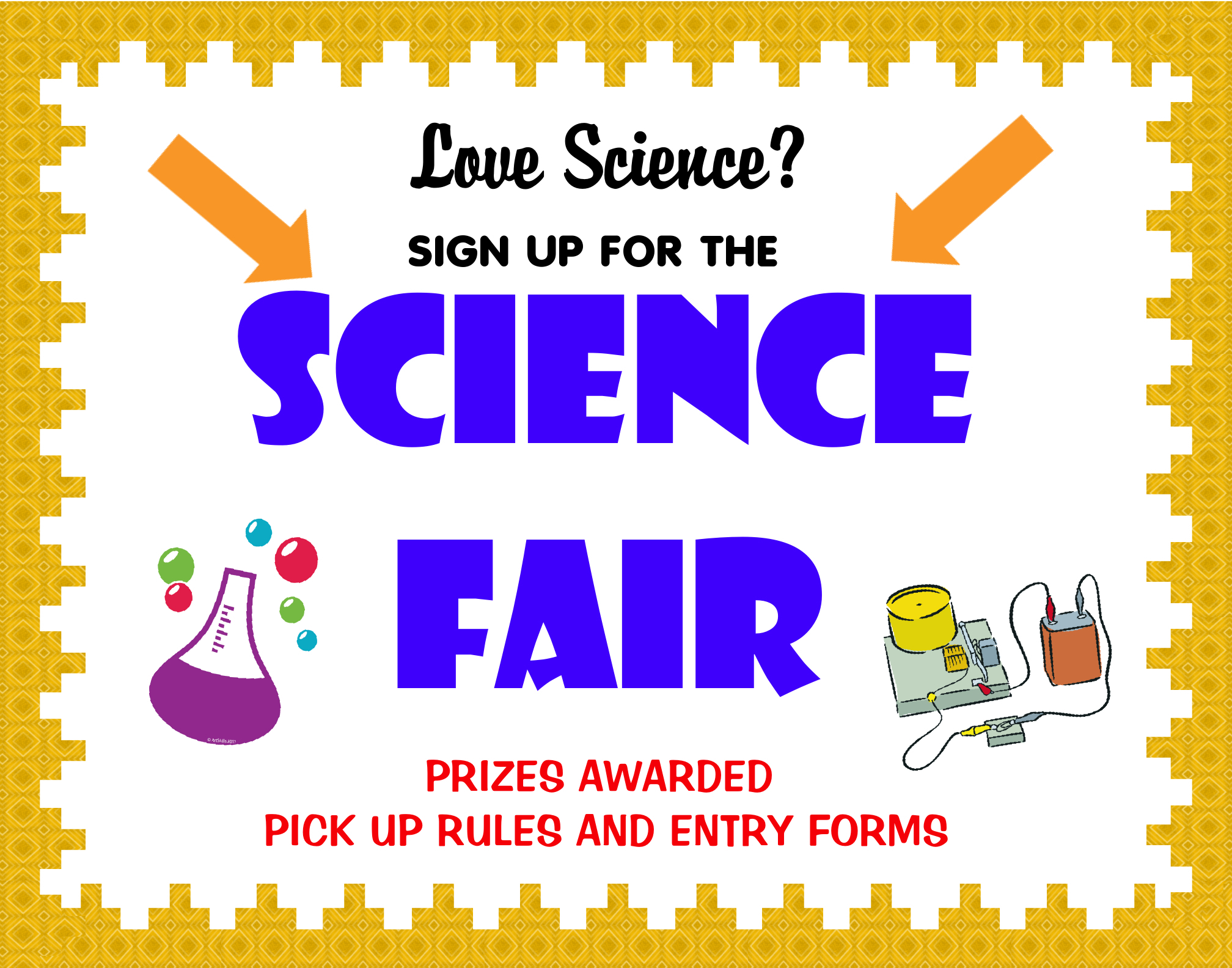 Make a science fair project | Science fair sign poster ideas | Science ...
