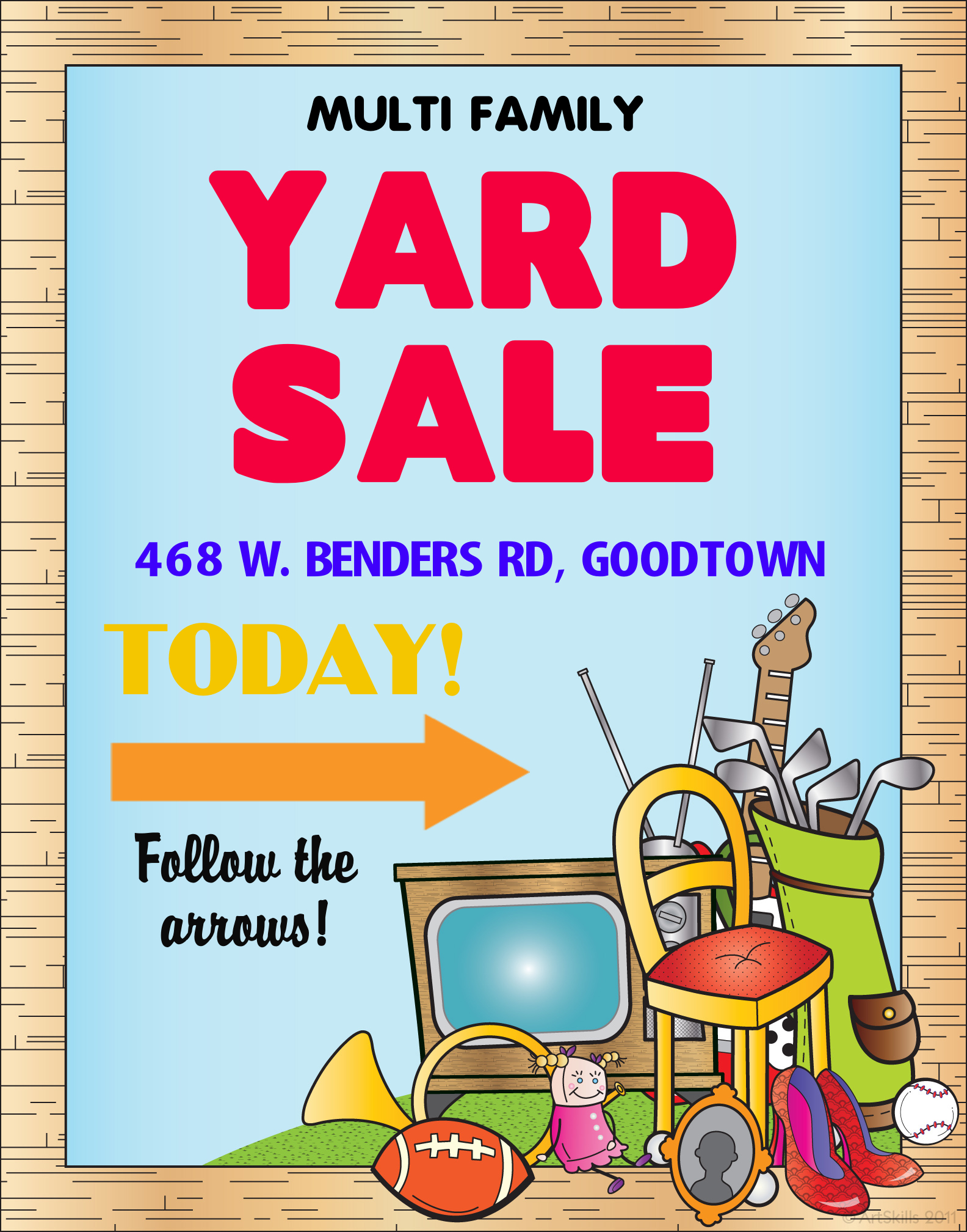 Make a multi family yard sale poster yard sale poster ideas