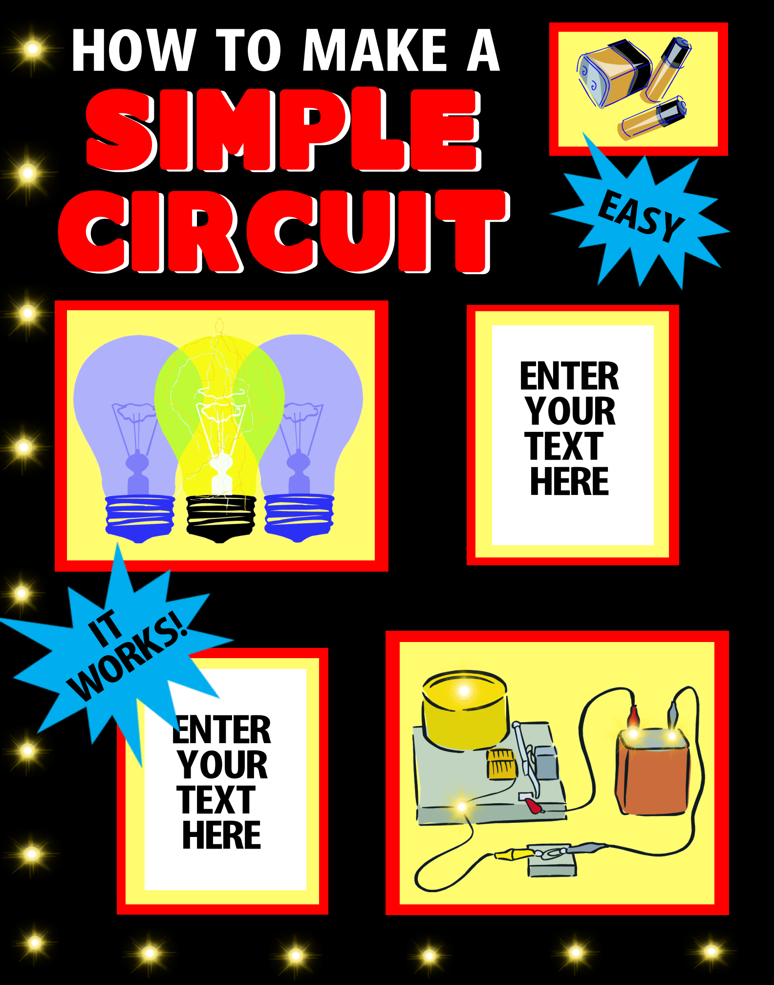 how to make a simple circuit